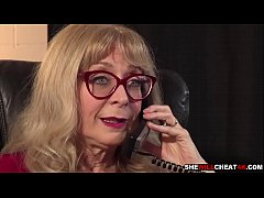 Nina Hartley grab her employees cock