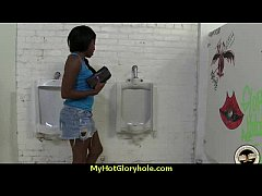 hot couple having oral sex in gloryhole interracial 26
