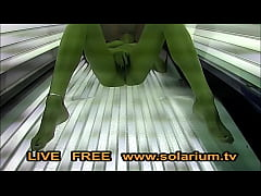 Solarium Cam Beautiful girl with big breasts masturbates under the www.solarium.tv