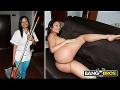 BANGBROS - Latina Maid Casandra Sucks Peter Green's Dick For Cash Money