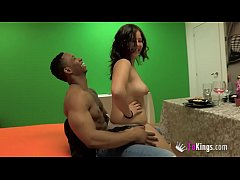 Big dicked black guy breaks Alba's teen pussy