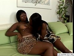 17 Two beautiful young lesbian whores lick each...