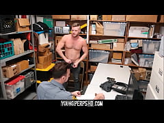 Straight Jock Caught Shoplifting Fucked By Gay Security Officer