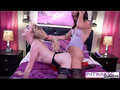 Iris Rose pussy is so tiny and wet and Sophia l...