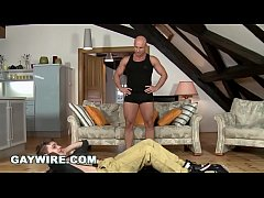 GAYWIRE - Tony And His Trainer Bruce Engage In Extreme Gay Anal Bareback Sex!