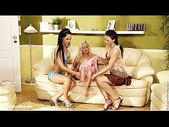 Torrid Threesome by Sapphic Erotica - lesbian love porn with Andy - Katy