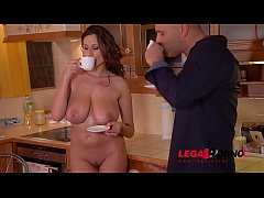 Voluptuous goddess Sensual Jane gets her tasty tits fucked in the kitchen GP527