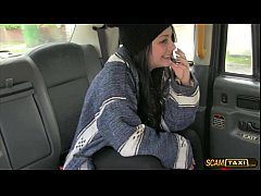 Damn sexy girl Alessa gets a free ride and rewarded a creampie