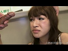 Submissive Japanese Office Slut Made To Eat Cum