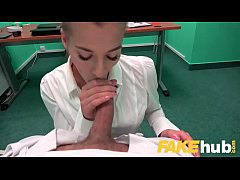Fake Hospital Sexy Czech estate agent loves sucking and fucking docs cock