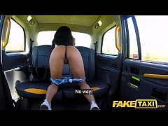 HD Fake Taxi Ebony horny beauty twerks on drivers big cock