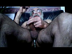 Wank with prostate massager up arse