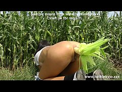 Self anal fisting on the corn field by Hotkinkyjo. Corn play role too :-)