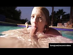 Underwater Naked Siren Sunny Lane Sucks Dick Below The Tide!