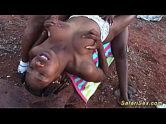 HD african sex safari threesome orgy