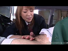 8 Submissive Japanese Slut Eating Cum In A Car