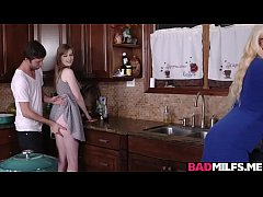 Sexy gf Dolly shares her bfs cock with mom Alura