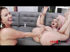 Proxy Paige & Maddy O'Reilly anal sex party with extreme DAP, pissing & fisting