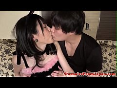 Petite asian trans babe gets anally banged