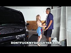 18yo Teen Lilly Ford Fucks Daddy's Mechanic Friend (dfmd15754)