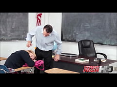 High School Girl Caught With Weed Then Fucked By Teacher - InnocentHighHD.com