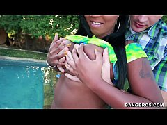 Black Babe gets Her Ass Oiled up