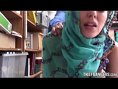 audrey royal busted stealing wearing a hijab and fucked for punishment
