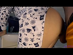 Quickie With Petite Teen In Pajamas Ends With Oral Creampie - Letty Black