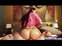 Wet Round Huge Butt Girl Enjoy When Her Ass Is Fucked clip-20