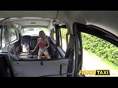 Fake Taxi Squirting busty blonde gives horny blowjob and takes big anal