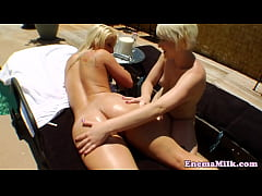 Les babe squirting milk in dykes mouth