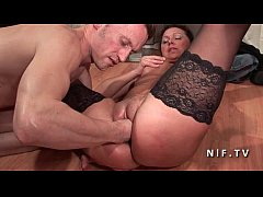 Amateur casting French mature hard double penetrated and facialized