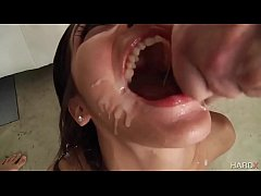 6 loads of cum in her mouth