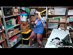 Shoplyfter cock feeding the LP Officer Rachael Cavalli deep down to her throat!