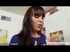 Brunette housewife Dana Dearmond take cock in POV