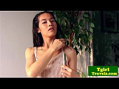 Ladyboy June takes a sensual shower