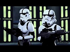 Vivid Parody - 2 Storm Troopers enjoy some Wookie dick