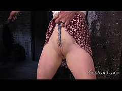 Hogtied redhead pussy toyed rough