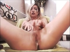 Blonde Teen Dripping Cream From Pussy- 457cams.com