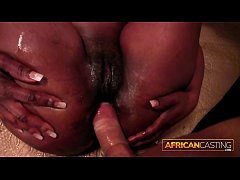 First Time Anal for African Sweetheart By Huge White Dick