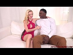 New blonde Riley Star goes black taking BBC in hard interracial