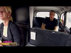 HD Female Fake Taxi Tattooed guy makes sexy blonde horny