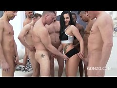 Fitness Babe Lucia Denville Gangbanged By 9 Guys