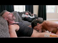 FILTHY FAMILY - Precious Teen Emily Willis Fucks Step Dad & Step Uncle