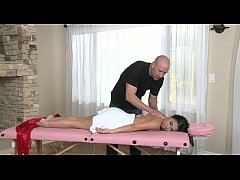 Cindy Starfall's massage gets a sexy turn