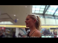 Breathtaking czech chick gets seduced in the shopping centre and nailed in pov