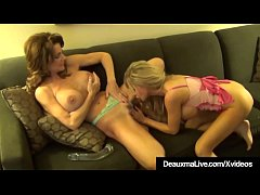 Pussy Licking Fun With Texas Cougar Deauxma & Cindy Pucci!