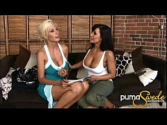 Big Titted Puma Swede & Lisa Ann's First Time!