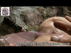 Penelope Black Diamond ... fuck the Dildo Outdoor Preview