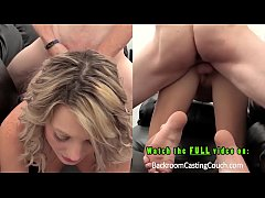 Blonde Ass Fuck and Creampie Casting